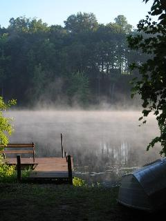 Morning Mist-View from the Kitchen