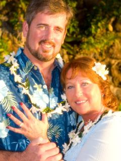 We got married here...at Sunset on the Beach! 'What happens in Hawaii...stays with you forever'!! ;)