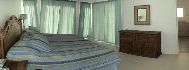 Master Bedroom #2 - 1 King Size Bed - Down Strairs - Cozumel Vacation Villa Rental