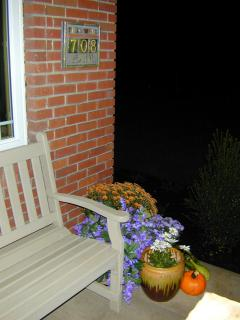 Front porch bench - There is a deck or porch facing every direction... North, South, East or West.