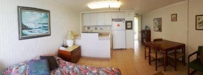 Panoramic view of living area from lanai
