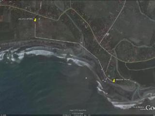 map  (villa to Medewi Beach)