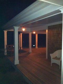 House - Front Porch at Night