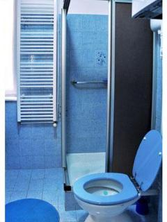 A simple but clean bathroom!