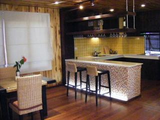 modern designed kitchen with dinning area