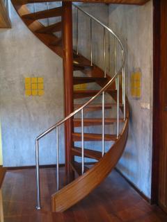 wooden spiral stair