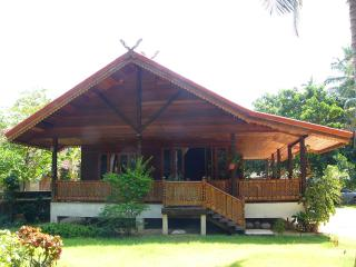 THE BEAUTIFUL HANDCRAFTED WOODEN LODGE IN TRADITIONAL THAI STYLE.