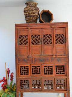 Antique Chicken Coop. We have over a dozen authentic Chinese Antiques in this home.