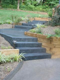 New stained steps