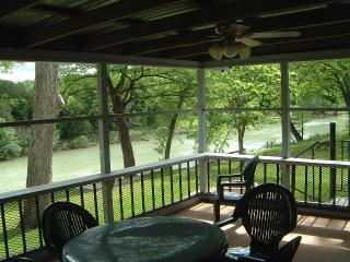 View of Guadalupe River from Guadalupe Haus sleeping 16