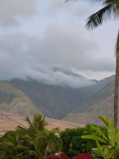 Amazing West Maui Mountains view from yard