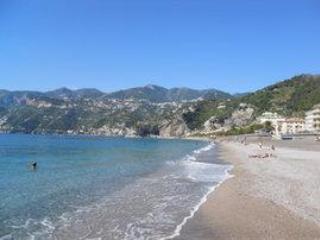 The beach of nearby Maiori