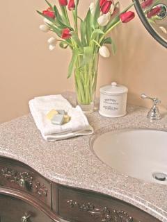 Four Piece Limestone Luxury Bathroom