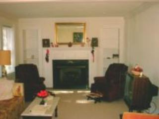 Living Rm with Queen hide-a-bed, CableTV,VCR,DVD, and Gas Fireplace