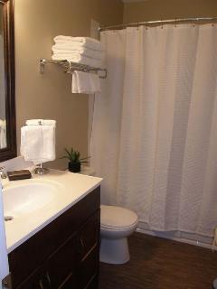 Beautiful four piece bathroom.