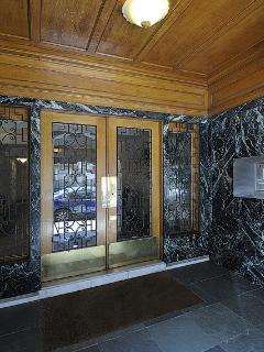 Lobby doors of building
