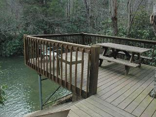 At Creek Bend Escape you can Fish Right Out Your Back Door!, McCaysville