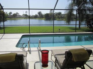 A Stunning Lake View with Sunny Pool and Lanai, Naples