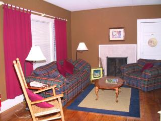 The living room in Azalea is just off the dining room and kitchen perfect for everyone to hang out.