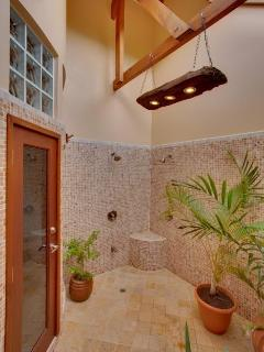 The outside shower!  One in each guest bedroom.