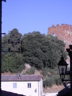 The Medieval towers in Parco Corsini in Fucecchio