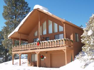 Southeast elevation of Chalet in winter
