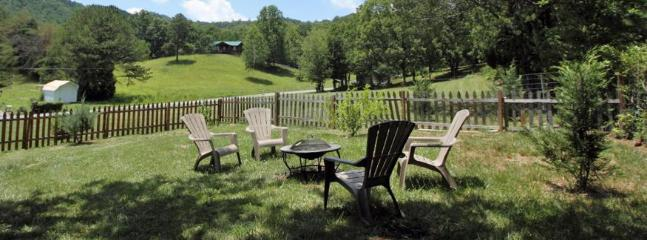Back yard on over an Acre with fence area for pets!