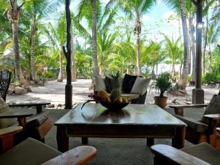 BEACHFRONT PALM VILLA Right at Santa Teresa beach