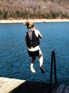 The first jump into the lake of the season this April