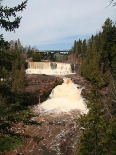 Gooseberry Falls (9 mi. south) spring thaw in April
