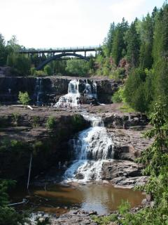 Gooseberry Falls in summer (9 mi. south)