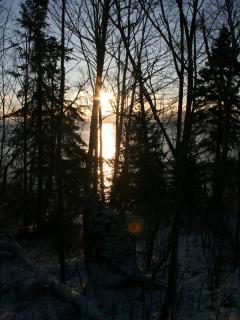 Winter sunrise at Tettegouche State Park (9 mi. north)