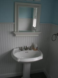Upscale bathroom finishes