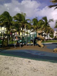 Playground across from the building