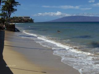 Ocean front condo on a sandy beach in West Maui, Lahaina