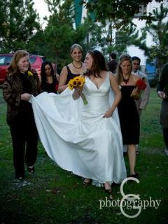 Kerri's wedding, Oct 2010.  She used all 3 houses