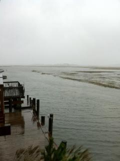 View of Deep Hole Creek during Storm and High Tide, October 1, 2010