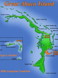 Abaco Palms location on Great Abaco Island - at Casuarina Pt.  Approx. 16 mi. south of Marsh Harbour