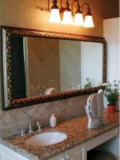 Master Bedroom #2's Bathroom Vanity with granite countertop.