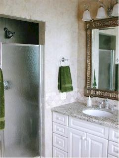 Master Bathroom #1's Vanity & Shower