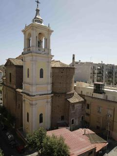 "From the master room you can admire the bell tower of the Church of ""Santa Maria alle Fornaci"""
