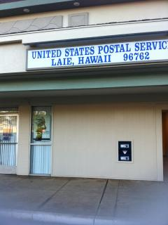 Laie has it own post office! Not as rural as you think