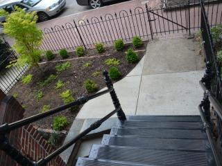 Front Garden w/Cast Iron Staircase