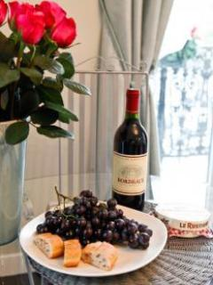 Free Wine and Chocolate On Your Arrival