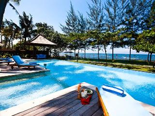 Beachfront lap pool with timber deck