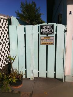 Your own private gate into the home.  No trespassers here
