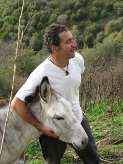 Andrea with donkey Stella