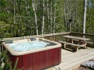 Banheira de água quente perto do riacho