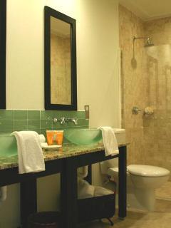 Boutique style en-suite shower room.