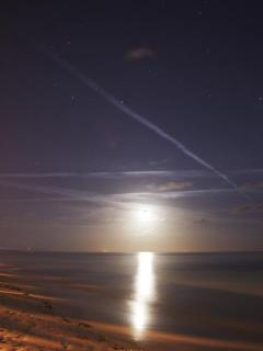 Moonrise at Wednesday night Fish Fry
